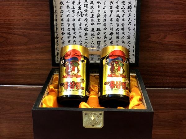 Cao hồng sâm cô đặc Hàn Quốc hộp gỗ 2 lọ 250gr