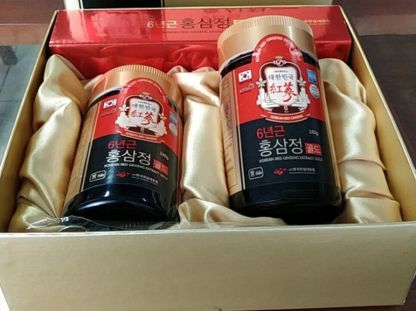 Cao hồng sâm cô đặc Korean Red Ginseng Extract Gold 2 lọ