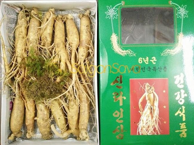 Nhân Sâm Tươi Hàn Quốc 6 Năm Tuổi – 12 Củ/1kg