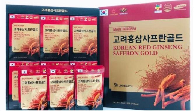 Nước Hồng Sâm Nhụy Hoa Nghệ Tây - Korean Red Ginseng Saffron Gold
